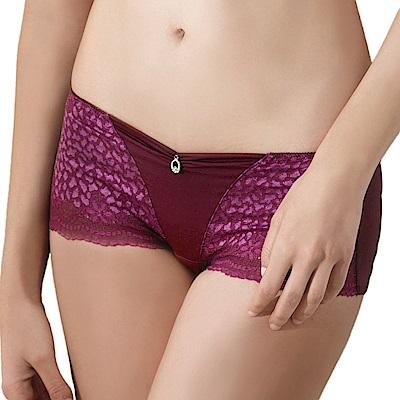 LADY 豹紋精靈系列 中腰平口內褲(叢林紫)