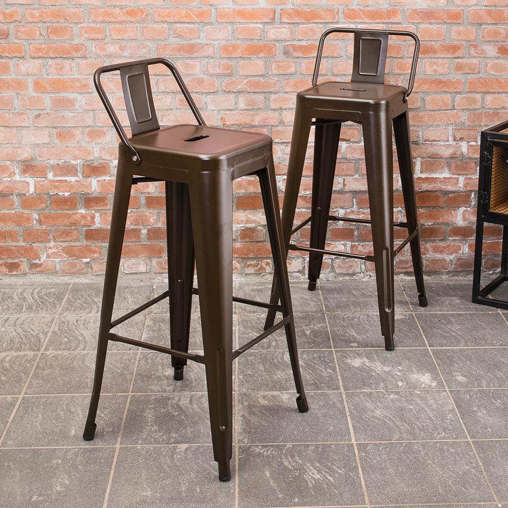 Boden-艾客工業風吧台椅/高椅(二入組合)-43x43x96cm