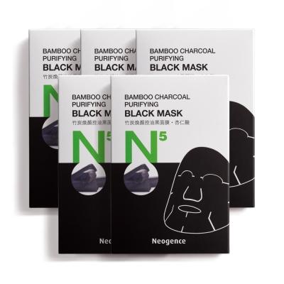 Neogence霓淨思 N5竹炭煥顏控油黑面膜6片/盒★5入組