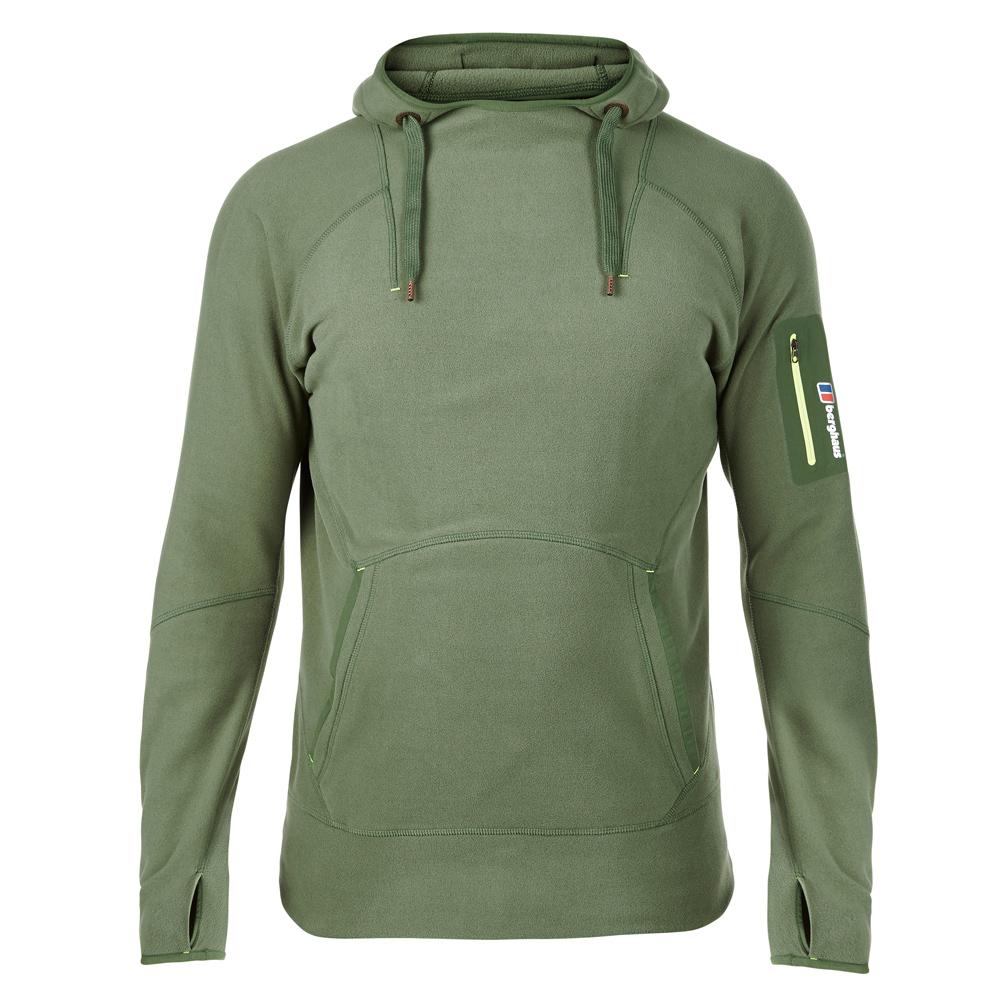 【Berghaus 貝豪斯】男款 FONT連帽刷毛保暖上衣H51M03綠