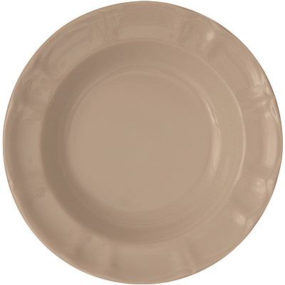EXCELSA Chic陶製深餐盤(淺棕22cm)