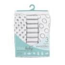 美國idealbaby 輕柔新生兒包巾(3入)-灰星星 IB105