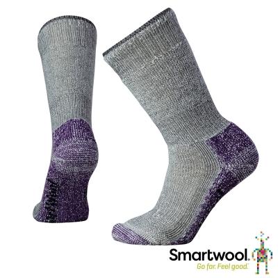 SmartWool 羊毛襪 超級避震墊型 登山 中長襪 女 灰紫