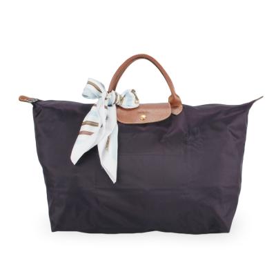 Longchamp 折疊大型水餃包(短提把/深紫)