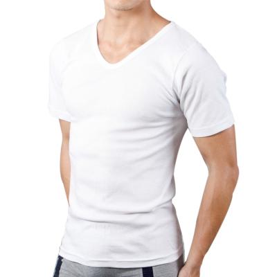 男內衣 白色V領短袖內衣 (6件組) 3A-Alliance
