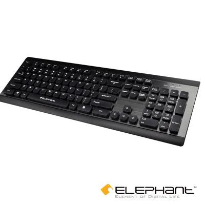ELEPHANT 金屬典雅工藝 懸浮式巧克力鍵盤(KE-012BK)