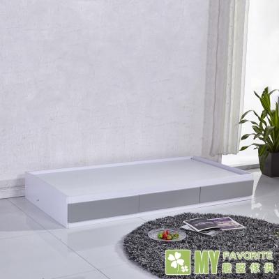 床架-單人-單身貴族3呎收納床架-最愛傢俱