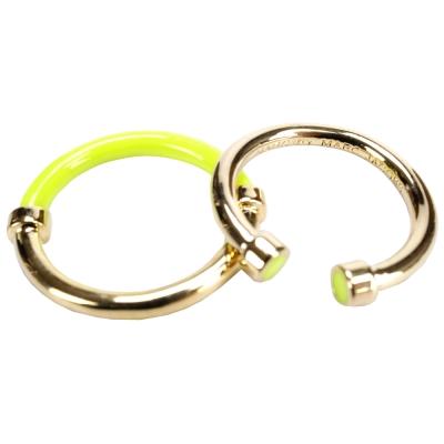 MBMJ HULA HOOPS 呼拉圈造型戒指(黃x金)