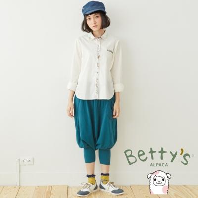 betty's貝蒂思 拼布鈕扣造型飛鼠褲(藍綠色)