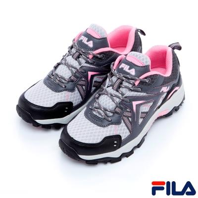 FILA 女登山鞋-灰粉5-H704R-540