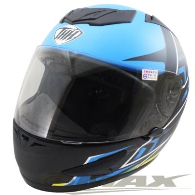 THH-金鋼狼全罩式機車安全帽T80-藍色