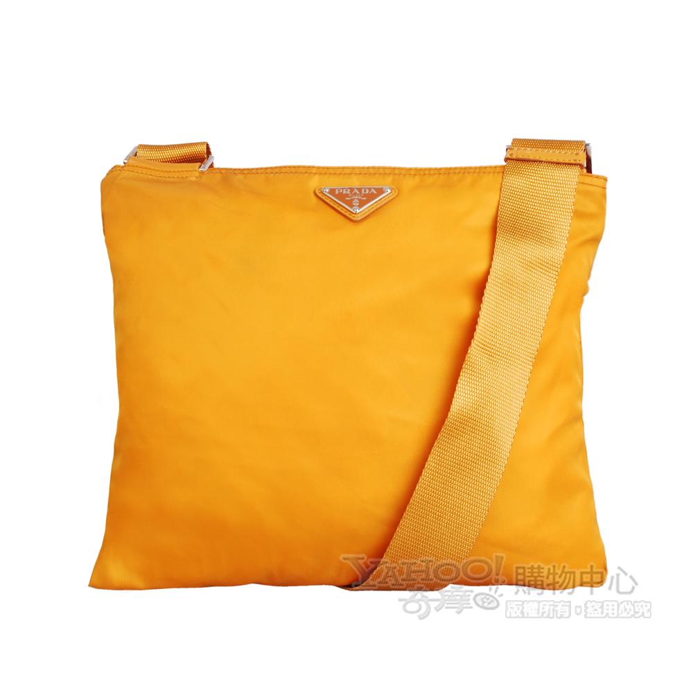 PRADA  斜背和尚包(橘黃色)