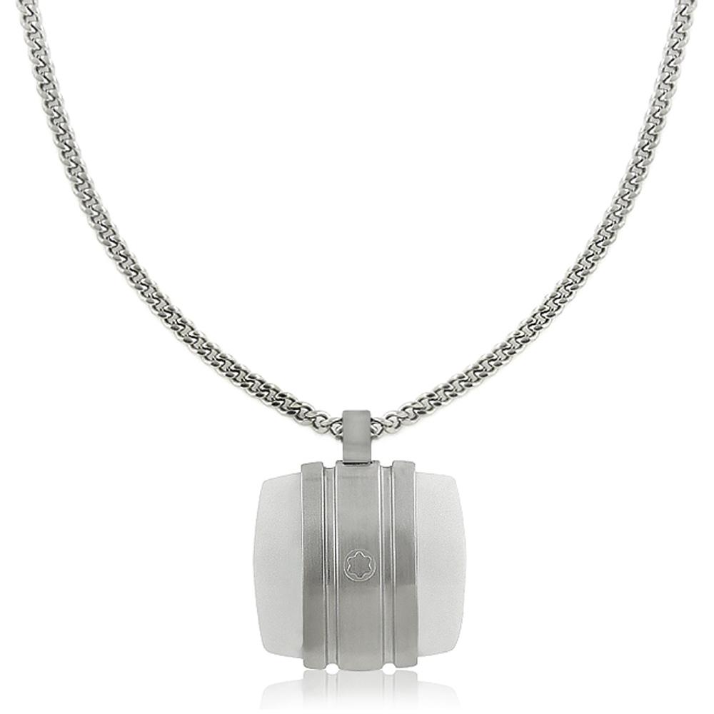MONT BLANC 萬寶龍 白朗峰禮讚典藏系列白色瑪瑙墜飾項鍊