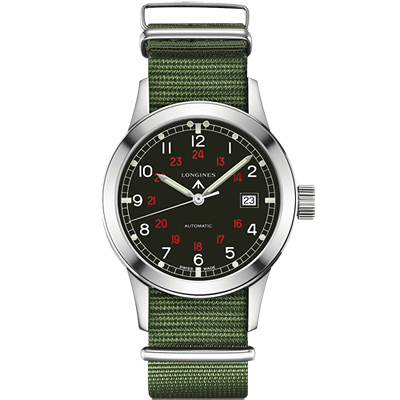 Longines Heritage Military COSD復刻軍事機械錶-黑/40mm