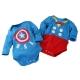 帥氣英雄長袖包屁衣(2件組) 藍 k60157