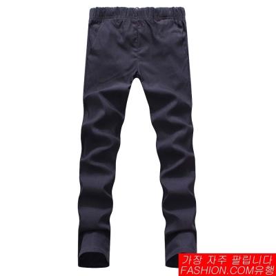FASHION館-韓系基本款SKINNY彈性縮口褲-工作褲