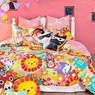 Fancy Belle X Malis 有你在真好 雙人四件式防蹣抗菌舖棉兩用被床包組