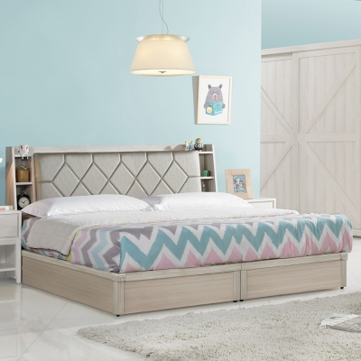 Homelike 妮可6尺床台組(含床頭箱)-雙人加大6尺