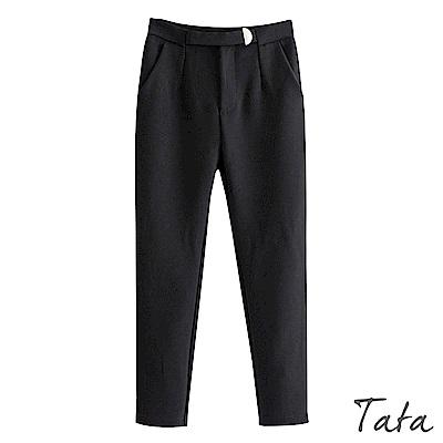 高腰雙口袋長褲 TATA