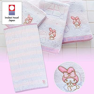 Sanrio 美樂蒂日本製今治純棉浴巾(房間)