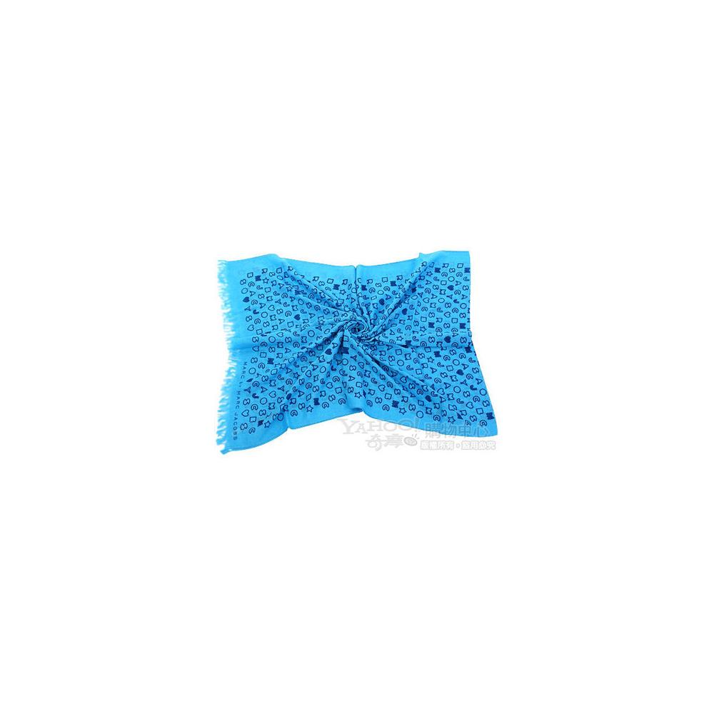 M.B.M.J 可愛字母塗鴉圍巾(土耳其藍)