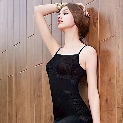 曼黛瑪璉 美型顯瘦 細肩帶平口背心S-XL(黑)