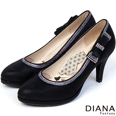 DIANA-超厚切LADY款-注目耀眼蝴蝶結跟鞋