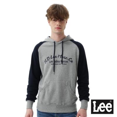 Lee  HD LEE連帽厚T恤/RG-男款-灰