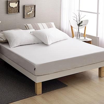 DON 極簡生活-晨光白 特大三件式200織精梳純棉床包枕套組