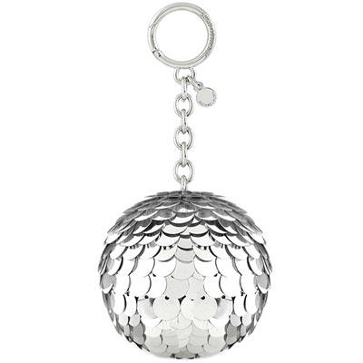 MICHAEL KORS Disco Pom亮片球球鑰匙圈吊飾(銀色)