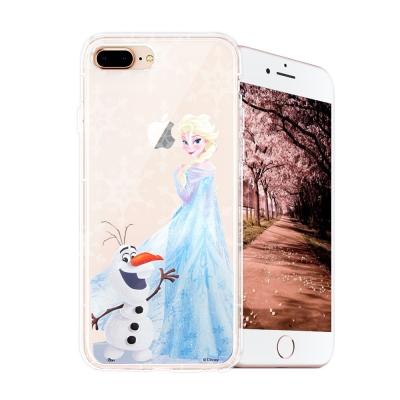冰雪奇緣展場限定版 iPhone 8 plus/7 plus空壓殼(艾莎雪寶)