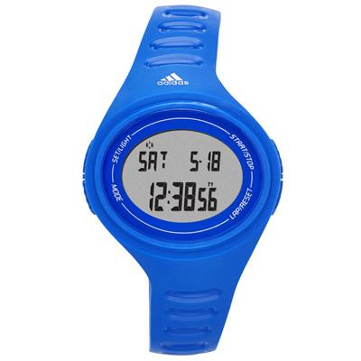 adidas 橢圓百搭數位電子腕錶-藍/37mm