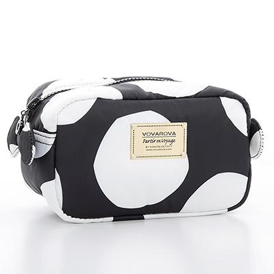 VOVAROVA空氣包-裝不滿化妝包-波卡圓點-黑