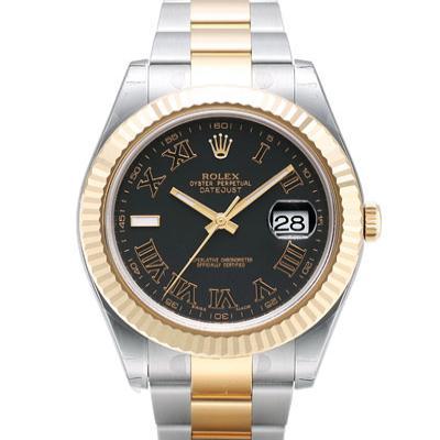 ROLEX 勞力士 116333 蠔式恆動日誌型大羅馬字腕錶-黑/41mm