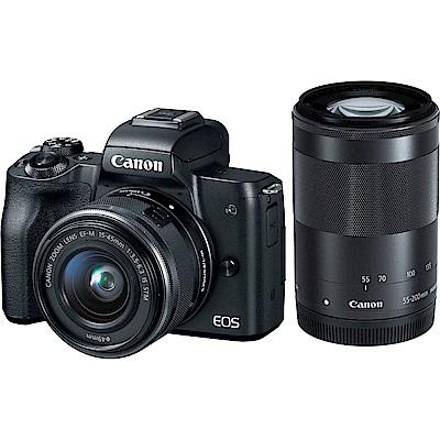 Canon M50 15-45mm+55-200mm 雙鏡組(平輸中文)黑