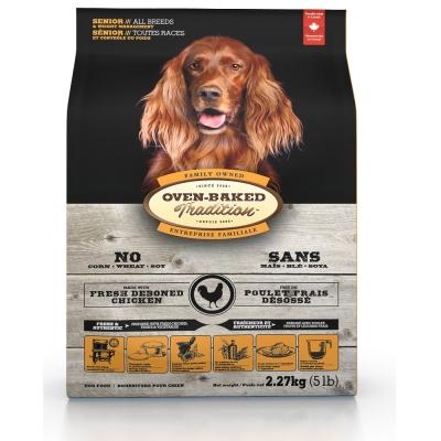 烘焙客Oven-Baked 高齡犬/減重犬雞肉27磅(大顆粒) 1入