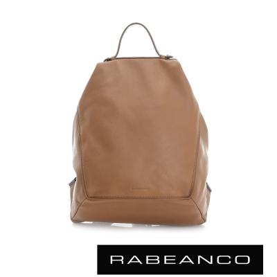 RABEANCO 時尚系列牛皮菱形後背包 淺駝
