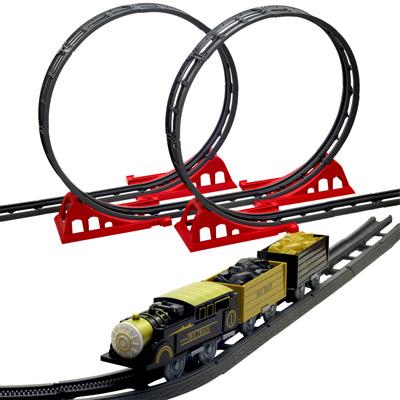 The Train 超大型DIY煤礦火車360度立體軌道組 47PCS