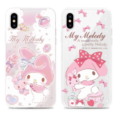 GARMMA Melody iPhone X 空壓氣墊軟殼-水鑽系列