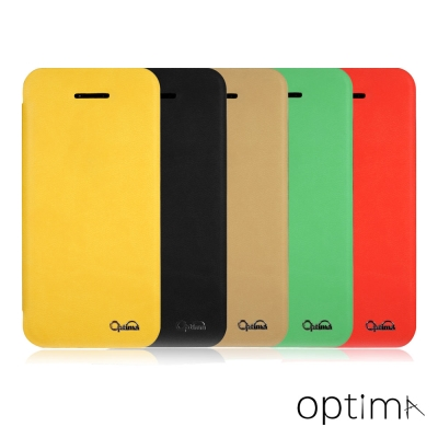Optima iPhone 5/5s5C 纖柔系列側掀皮套
