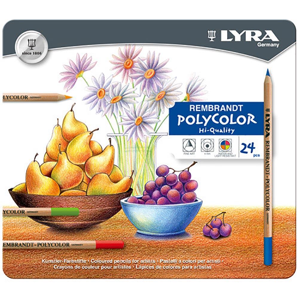【德國LYRA】林布蘭專業油性色鉛筆(24色鐵盒裝) @ Y!購物