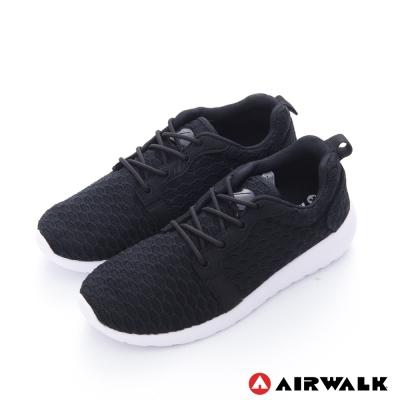 美國 AIRWALK 蜂巢式休閒慢跑鞋運動鞋-女款(黑)