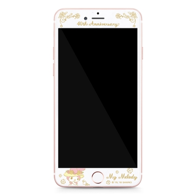 GARMMA My Melody iPhone 6/6S+ 5.5吋鋼化玻璃膜-典雅花園