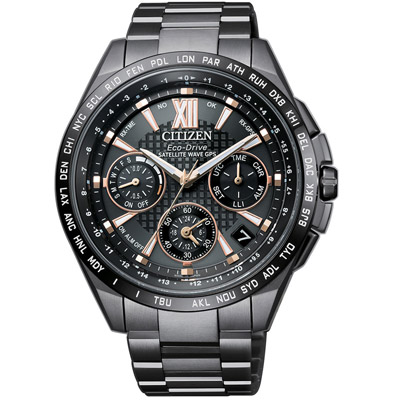 CITIZEN 星辰 限量鈦光動能GPS衛星計時錶(CC9017-59G)-43.5mm