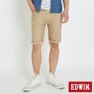 EDWIN 迦績褲JERSEYS涼感短褲-男-灰卡其