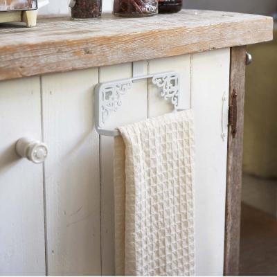 【YAMAZAKI】Kirie典雅雕花門板毛巾架-白★衛浴收納/毛巾掛架/抹布架