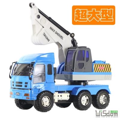 WISDOM 仿真磨輪動力車系列-超大挖土工程車