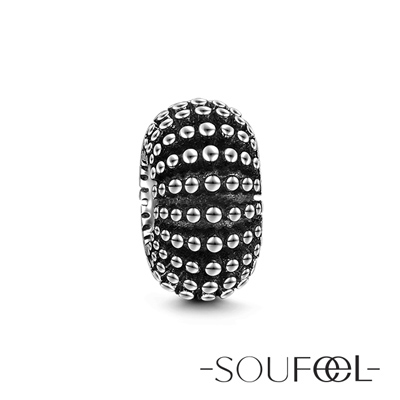 SOUFEEL索菲爾 925純銀珠飾 龐克風 定位珠