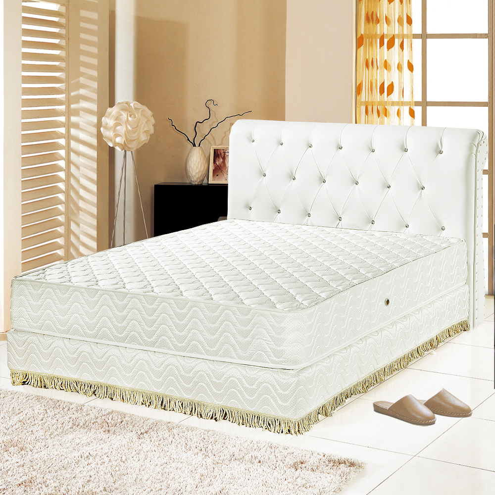 Ally愛麗 飯店用-乳膠抗菌3M防潑水護邊獨立筒床墊-雙人5尺