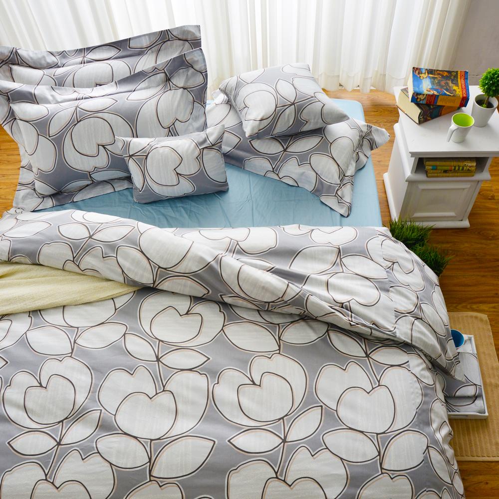 Cozy inn 花趣 加大四件組 200織精梳棉薄被套床包組